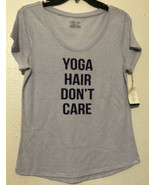 """JASMINE & GINGER """"Yoga Hair Don't Care"""" GRAPHIC  SLEEP TOP SIZE M - NWT - $9.50"""