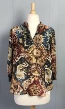 Chaps Multicolor Blouse Size PM - $9.49