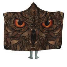 Night Owl Hooded Blanket   Hooded Sherpa Throw   Housewarming Gift - $41.95+