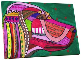 "Pingo World 0414Q5S84MM ""Heather Galler English Setter Dog"" Gallery Wrap... - $53.41"
