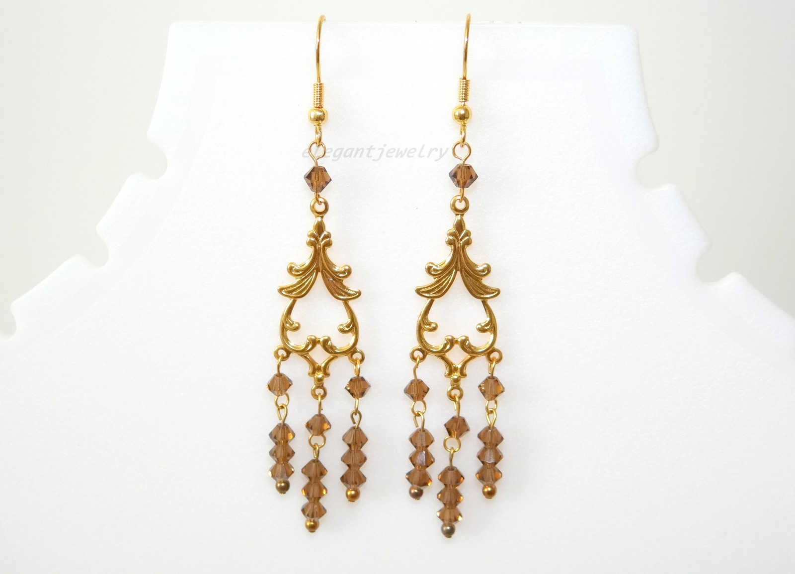 Primary image for BROWN CHANDELIER EARRING