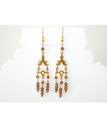BROWN CHANDELIER EARRING - $12.00