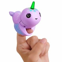 WowWee Fingerlings Light Up Narwhal - Nelly (Purple) - Friendly Interact... - $500.00