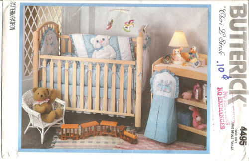 Primary image for Butterick 4495 Sewing Pattern Crib Quilt Bumper Baby Items