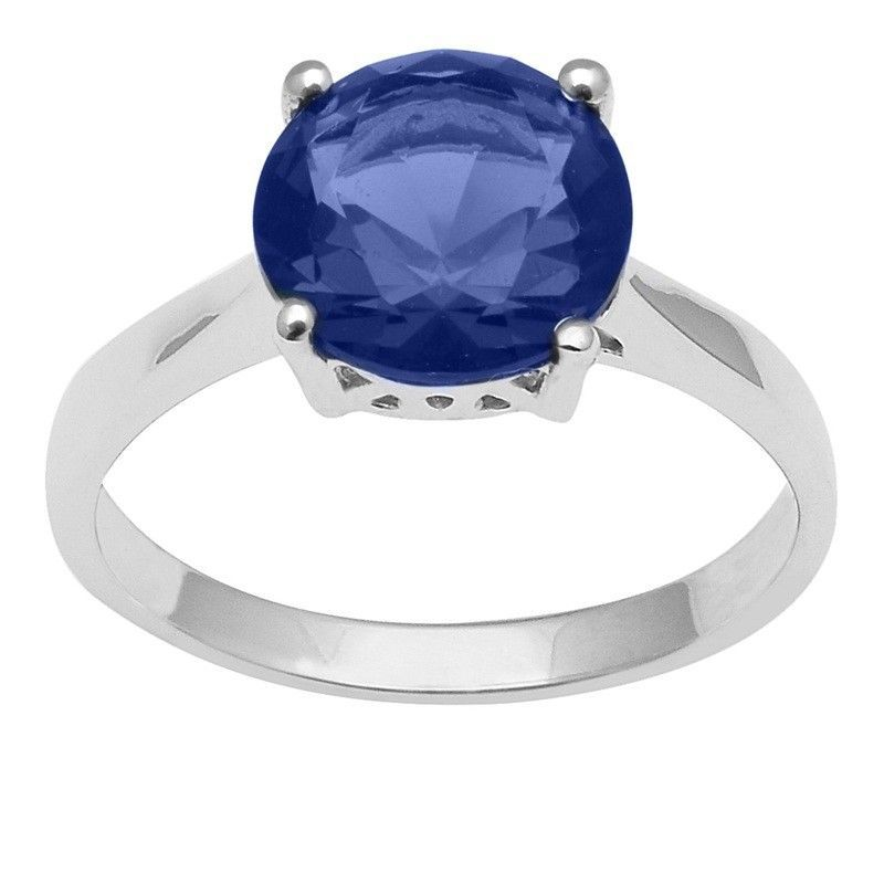 Blue Cz Gemstone 925 Sterling Silver Ring Shine Jewelry Size-9.5 SHRI1440