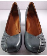 Gentle Souls Osaka Sky Pumps Womens Size 10 M Gray Blue Leather Round To... - $69.95