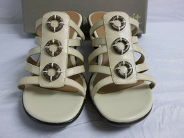 Easy Spirit Size 10 M Sona Ivory Leather Slides Sandals New Womens Shoes - $78.21