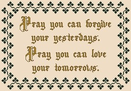 Pray You Can Forgive religious PDF cross stitch chart John Shirley new designer - $89,02 MXN