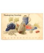 Thanksgiving Greetings vintage Victorian postcard tankard embossed air b... - $8.00