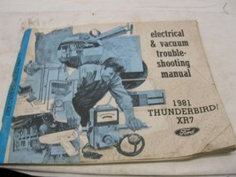 1981 Ford Thunderbird Mercury Cougar XR7 Electrical Vacuum Service Manual Wiring - $10.88