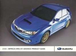 2008 Subaru IMPREZA WRX STi Advance Product Guide brochure catalog 08 US - $10.00