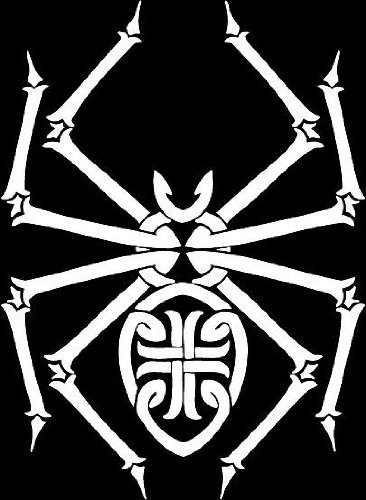 Spider insect tribal vinyl window decal sticker 008.