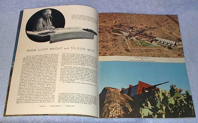 Arizona Highways Magazine October 1949 Frank Lloyd Wright Taliesin West