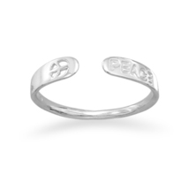 Sterling Silver Small Adjustable Peace Ring - $32.95