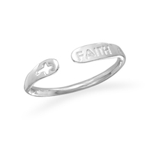Sterling Silver Small Adjustable Faith Ring - $32.95