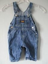 Oshkosh B'gosh Vestbak Boy's Size M Denim Jean 100% Cotton Overalls - $20.80