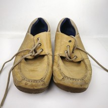 Mens Sperry Top Sider Beige Top Leather Slip On Loafer Size 12 M - $19.99