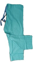 Teal Blue Scrub Pants 3XL Drawstring Waist Medical Uniform Bottoms Unise... - $19.37