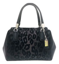 Coach Madison Ocelot Leopard Animal Print Mini Handbag Black Chenille & ... - $49.00