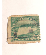 Niagara Falls Green Vintage USA Used 25 Cent Stamp - $7.86