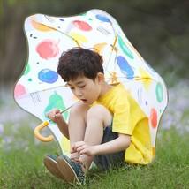 Children  Windproof Solar Sun Umbrella Long Handle Pongee Material Irreg... - $30.99