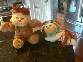 """Cabbage Patch Kid Cat Kitty Baby Doll CPK Koosas 14"""" 1983 & Dog Pet Crimp n Curl - $37.90"""
