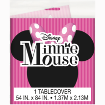 Disney Minnie Mouse Plastic Table Cover 1 Per Pkg Birthday Party Supplie... - $6.39