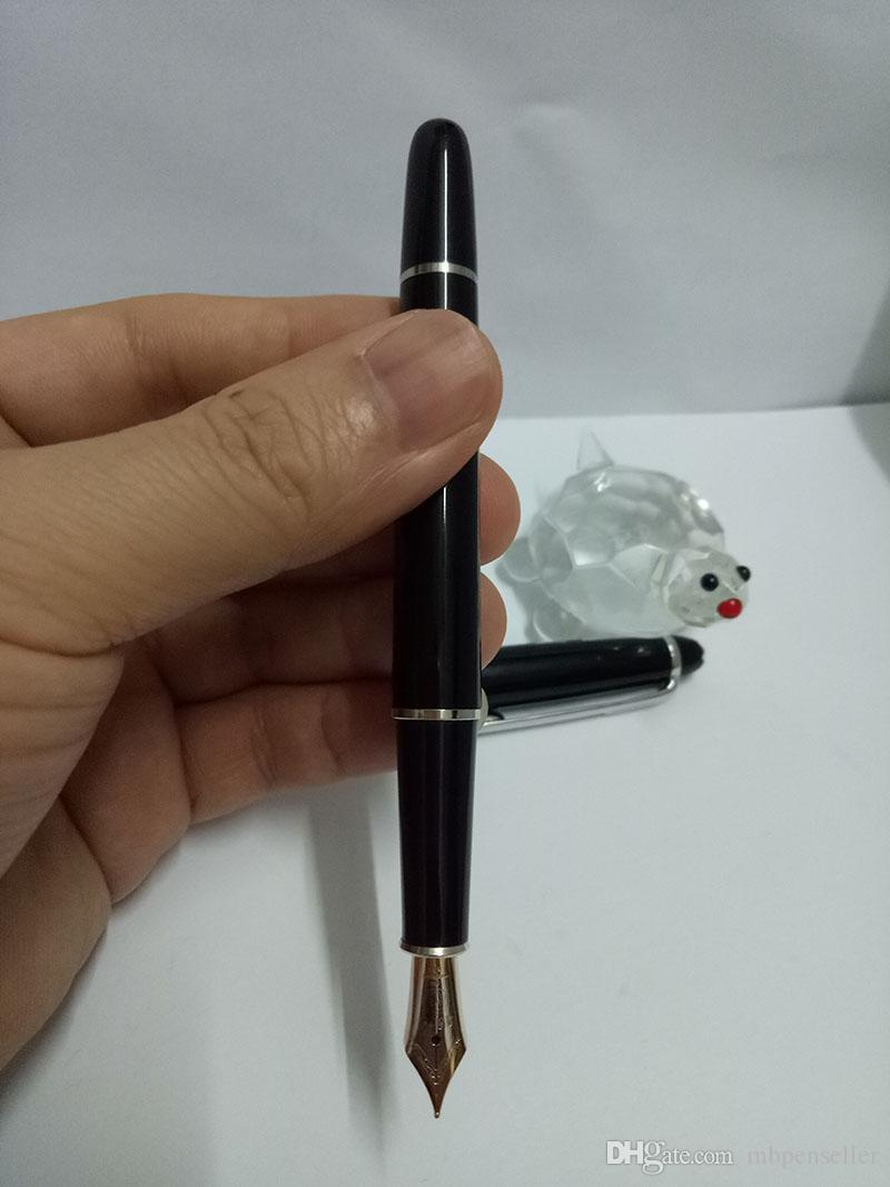 High quality Resin Material 163 Platinum MB Founatain Pen Black body silver clip