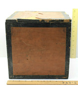 """Very Cool 10"""" Square Wood Antique Box Exposition Tea Worlds Fair NY New ... - $116.86"""