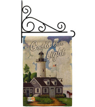 God is Our Light Burlap - Impressions Decorative Metal Fansy Wall Bracket Garden - $33.97