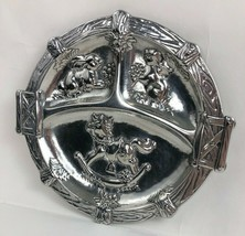 Arthur Court Childs Divided Aluminum Plate Bunny Rabbit Rocking Horse 2003 - $23.38