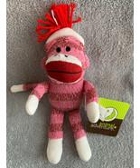 "Circo Target Sock Monkey Pink Striped Plush Knit Animal Adventure 11"" NEW - $11.87"