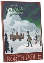 "Pingo World 0209QF2AVOM ""Steve Thomas Visit North Pole"" Gallery Wrapped Canvas A - $48.46"