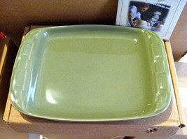 Longaberger Woven Traditions Pottery Snack Appetizer Plate SAGE!- NIB! - $18.86