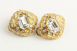 ESTATE VINTAGE Jewelry 80'S HIGH END VINTAGE SWAROVSKI CRYSTAL EARRINGS - $45.00