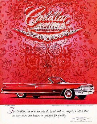 Primary image for 1961 Cadillac - Promotional Advertising Poster