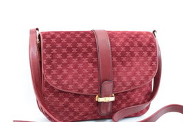 CELINE Suède Shoulder Bag Wine Red Auth 7504 - $598.00