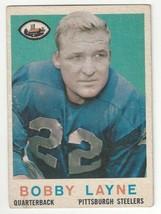1959 Topps Football - Bobby Layne - #40 - EX Condition - $19.79