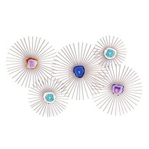 Adeco Asense Starburst Metal Art Sculptures Life-32.2X19.5 Inches Home W... - $36.64