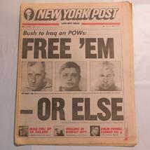 New York Post March 1 1991 Bush Iraq POW Kuwait Colin Powell WAR 9A - $39.99