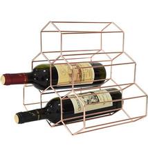 Wine Bottles Display Rack Holders Storage Shelf Nordic Bar Decor Geometr... - $58.95
