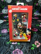 New Disney Mickey Mouse Minature Ornaments ~ Set of 5 ~ Enesco - $14.84