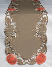"Melrose 70"" Brown Orange Pumpkin Cut-Out Design Trim Thanksgiving Table ... - $38.11"