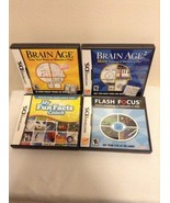 Lot of 4 Complete Nintendo DS Brain Age 1 & 2, h Focus & My Fun Facts LNC - $17.95