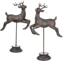Sullivans Figurines On Stands, Tabletop Or Shelf, Jumping Deer, 29' And ... - $99.70