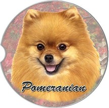 Pomeranian Car Coaster Absorbent Keep Cup Holder Dry Stoneware New Dogs ... - $10.88