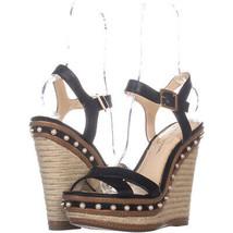 Jessica Simpson Aeralin Wedge Slingback Sandals 570, BlackSynthetic, 10 US - $35.51