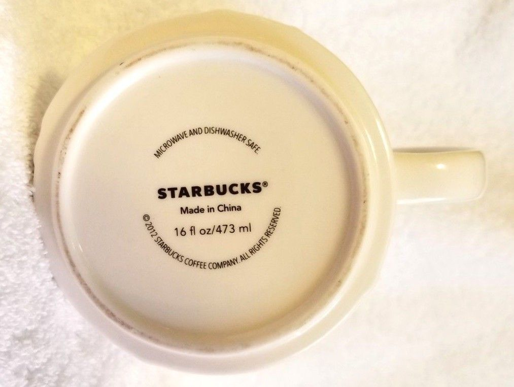 Starbucks City Mug Collection China Shanghai City Relief Skyline 2012 16 Ounce