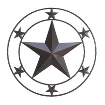 Decorative Metal Wall Decor, Rustic Texas Star Wrought Iron Wall Decorat... - €32,22 EUR