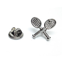 Crossed Tennis Racquets  tie pin, Lapel Pin Badge, in gift box